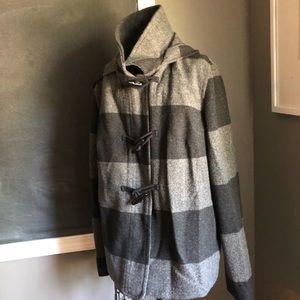 Striped Toggle Coat